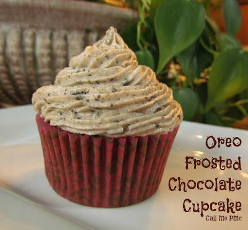 Oreo Frosted Chocolate Cupcakes