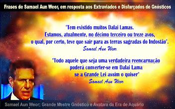 """Foto: O Grande Mestre Gnóstico Samael Aun Weor citava em seus livros o Dalai Lama esotérico pertencente ao CÍRCULO DE MESTRES CONSCIENTES DA HUMANIDADE.  O Mestre Samael nunca se referiu ao XIV° Dalai Lama estadista, somente referia-se ao Dalai Lama esotérico ligado a Ordem Sagrada do Tibete.  Samael é mestre em esoterismo e se referia a um MESTRE TIBETANO que havia ganho o título de Dalai Lama da Grande Lei. Recordemos o que disse o Mestre Samael:  """"Todo aquele que seja uma VERDADEIRA REENCARNAÇÃO poderá converter-se em Dalai Lama, se A GRANDE LEI assim o quiser"""". ( V.M. Samael Aun Weor )  Leia mais no tópico: """"As CINCO RAZÕES ( existem outras mais ) para provar que o Mestre Samael não se referia a Tensin Gyatso ( 14° Dalai ) quando falava do Dalai Lama"""". http://gnosesamaelgnosisgnosticos.blogspot.com.br/2012/08/samael-nao-se-referia-tensin-gyatso.html  Siglas, grupos, comunidades e/ou pessoas que estão associando o Mestre Samael ao 14° Dalai Lama estadista ( Tensin Gyatso ) , o fazem por pura ignorância ou que são tipos EXTRAVIADOS e DISFARÇADOS DE GNÓSTICOS, porque desses nós já sabemos que existem aos montes.  É PRECISO FICAR ALERTA COMO O SENTINELA EM ÉPOCA DE GUERRA, dizia-nos o V.M. Samael Aun Weor. ."""
