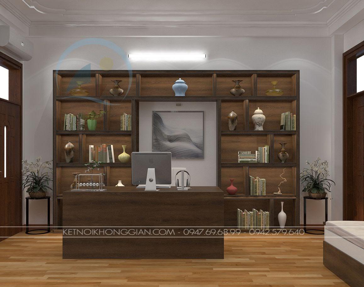 thiết kế phòng đọc sách kết hợp phòng làm việc và phòng học 3