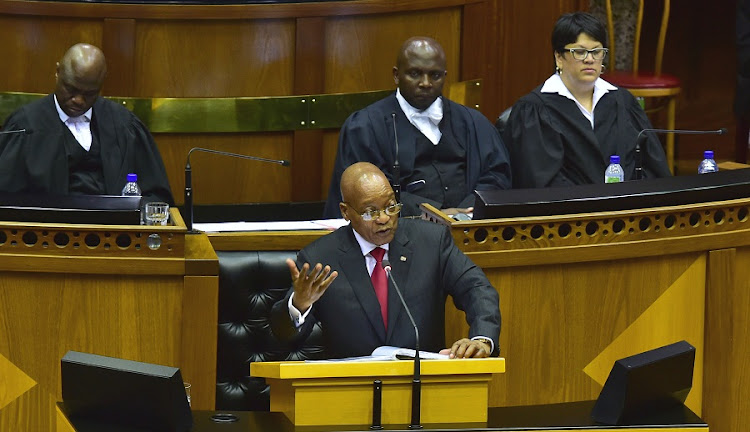 President Jacob Zuma addresses Parliament during SONA 2017. Picture: GCIS