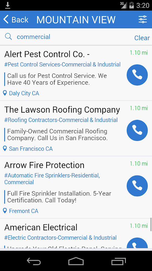 411 Verified Yellow Pages- screenshot