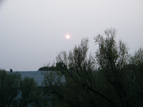 Photo: an golden sunset from benzrad 朱子卓's QRRS dorm. summer heat gathering after most raining season in Qiqihar in decades.