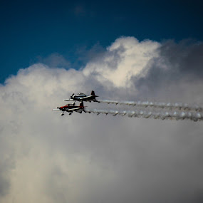 Racing Trails by Jason Roe - Transportation Airplanes ( flight, site and studio, airplane, planes, smoke )