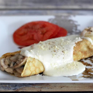 Savory Turkey and Mushroom Crepes