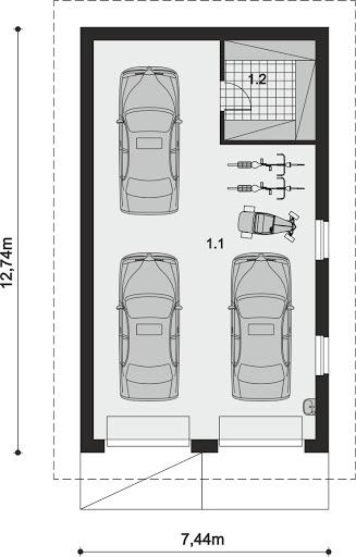 ARP 01 - Rzut garażu