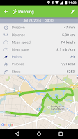 Screenshot of ActiFit Automatic Tracking