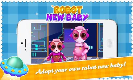 機械人的新生寶貝 - 機械人家庭照顧游戲