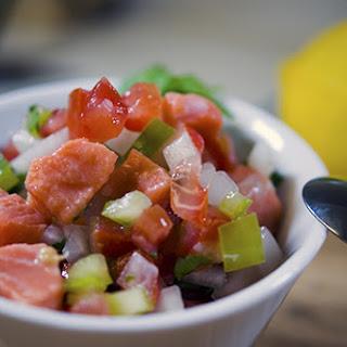Salmon Ceviche.