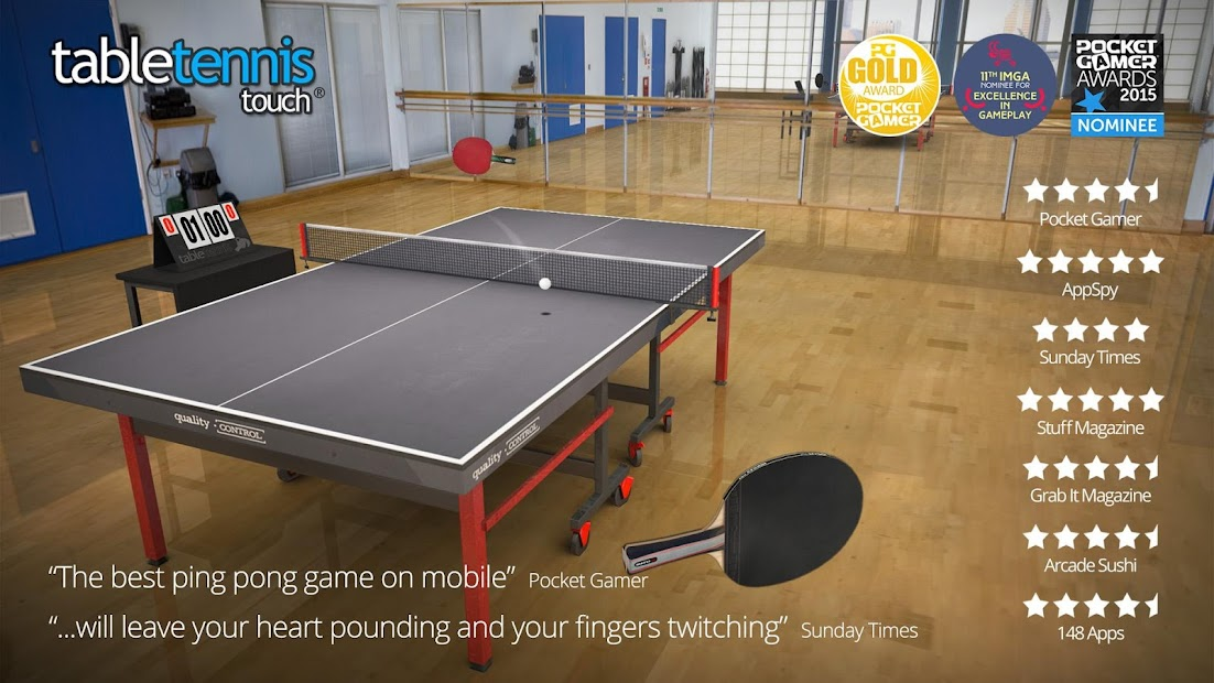 Table Tennis Touch Android App Screenshot
