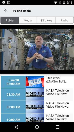 Screenshot 2 for NASA.gov's Android app'