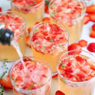 Strawberry Thyme Prosecco.