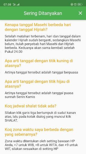KALENDER HIJRIAH - Puasa Sunnah, Jadwal Shalat 1.2.5 screenshots 6