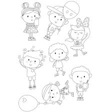 Simple Stories Say Cheese 4 Clear Stamps 4X6 - Happy Kids UTGÅENDE