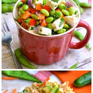 Edamame Feta Salad & California Roll Quinoa Salad.