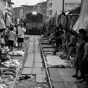 Train Market by Leonardus Cung - City,  Street & Park  Markets & Shops ( shop, market, street, train, people )