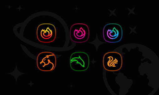 Horux Black – Icon Pack (MOD, Paid) v3.1 4