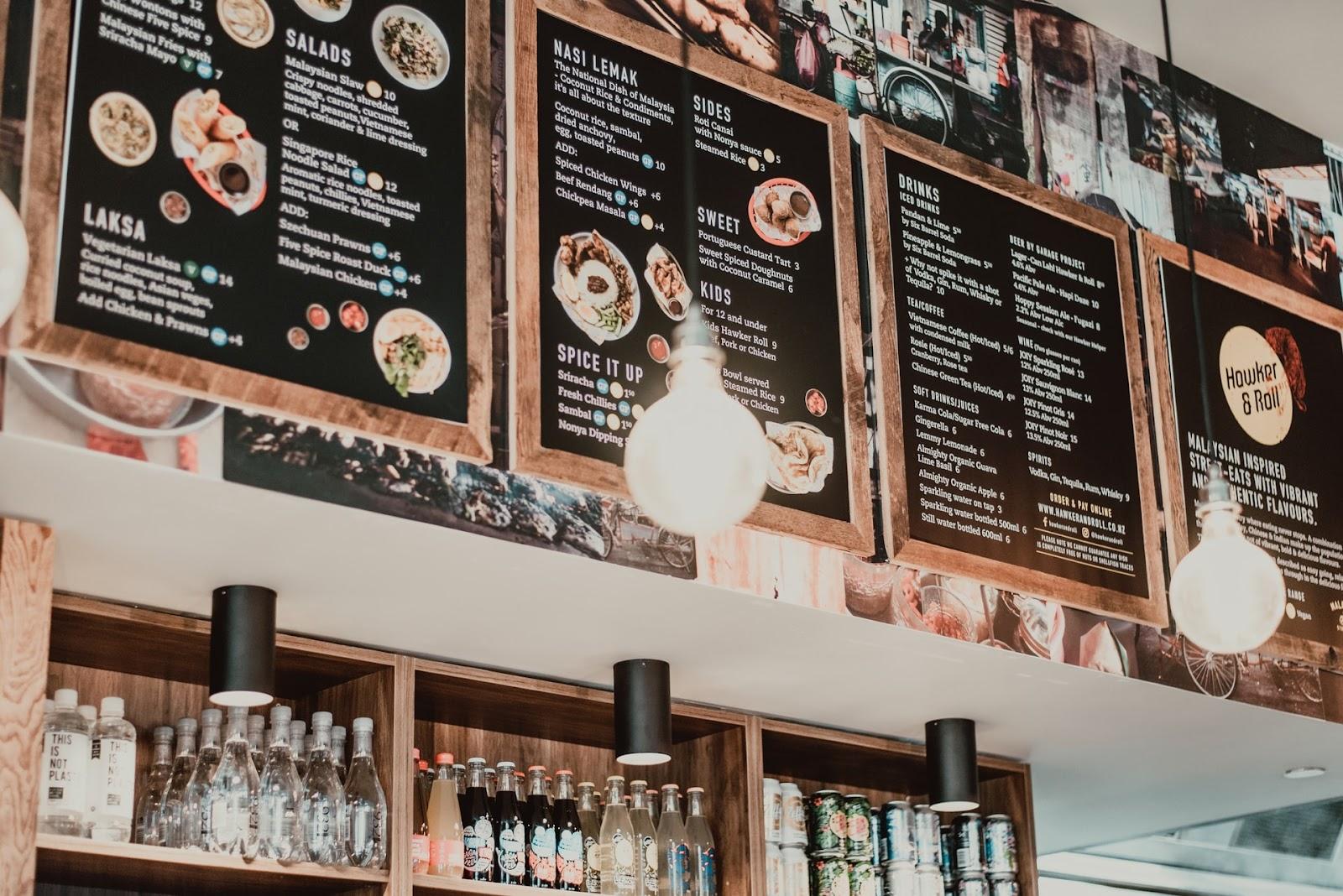 à la carte und andere Restauranttypen