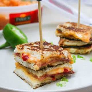 Mini Stacked Pimento Grilled Cheese Sandwiches Recipe