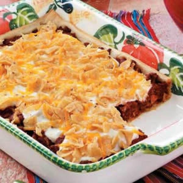 Crusty Taco Squares Recipe