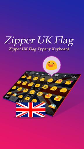 Zipper UK Flag Theme Keyboard  screenshots 2
