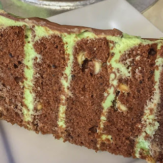 Cool Mint Chocolate Chip Cake.
