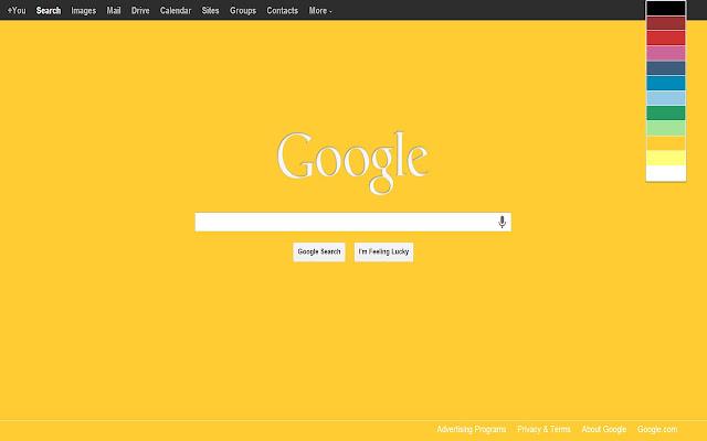 Change Your GoogleTM Page Color