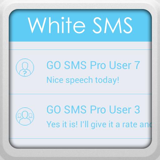 个人化のGO SMS Proのホワイト LOGO-記事Game
