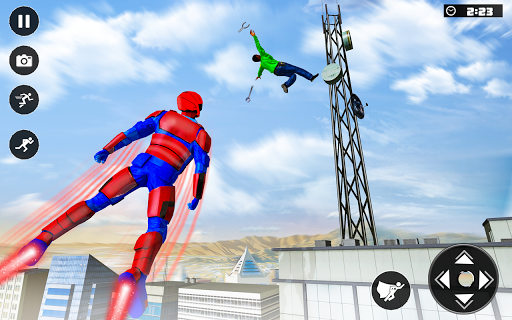 Real Speed Robot Hero Rescue Games apkpoly screenshots 3