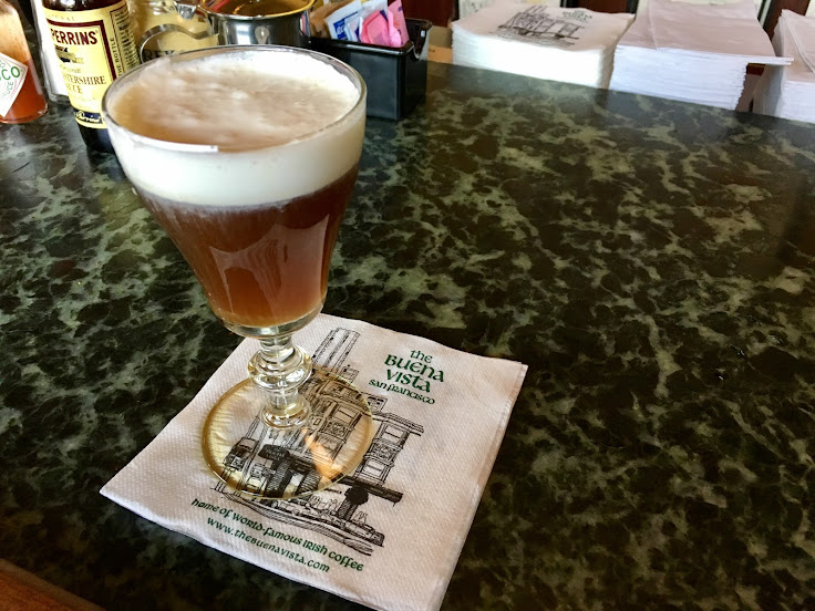 Irish Coffee at The Buena Vista Cafe bar.