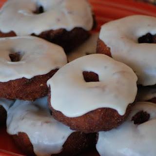 Gluten Free Frosted Pumpkin Doughnuts