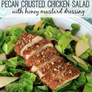 Pecan Crusted Chicken Salad with honey mustard dressing