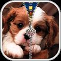 Puppy Zipper Lock Screen icon