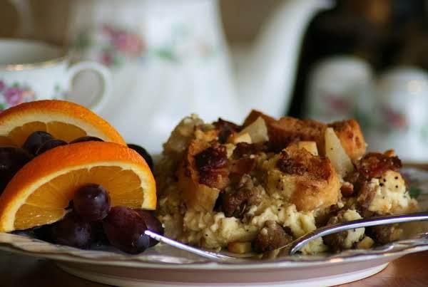 My Savory Autumn Bread Pudding