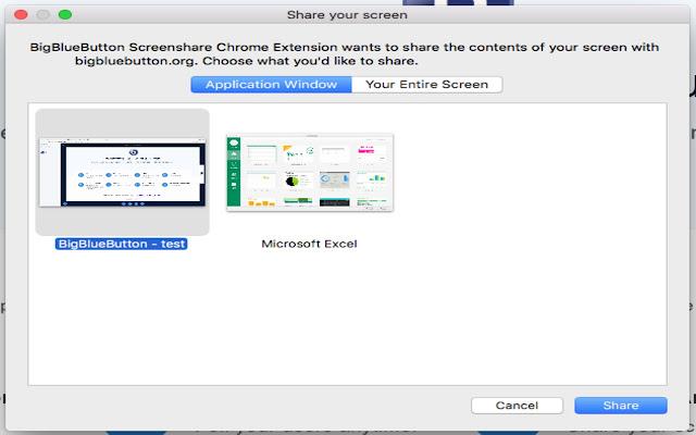 VirtualUniversity Screenshare Extension