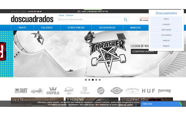 Doscuadrados skate shop
