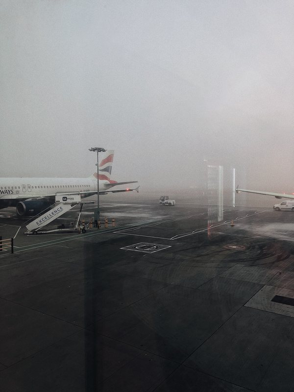 Cloudy Weather with Airplane