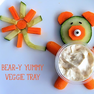 Bear-y Yummy Kid-Friendly Veggie Tray