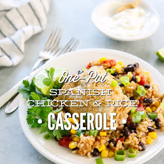 One-Pot Spanish Chicken and Rice Casserole.