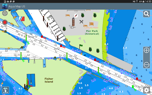 Aqua Map USA Marine GPS- screenshot thumbnail