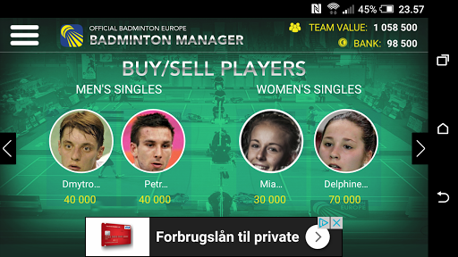 Badminton Manager 1.2.1 screenshots 2