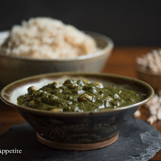 Chana Saag / Chickpea Spinach Curry {Vegan} Recipe