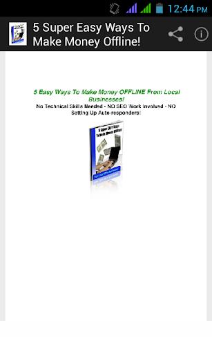 5 Super Ways To Money Offline.