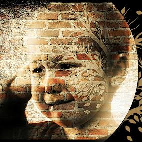 Before the waterworks by Cindy Walker - Digital Art People ( art, children, portrait )