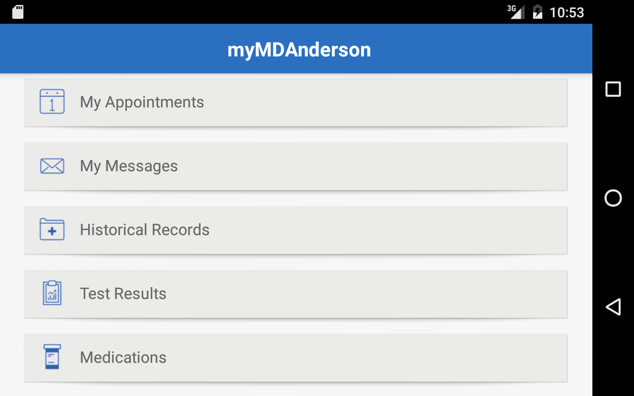 MD Anderson Mobile- screenshot