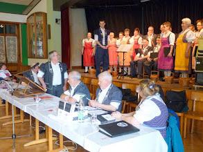 Photo: Table du comité cantonal