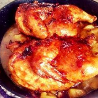 Pan Roasted Chicken W Pineapple Chile Glaze