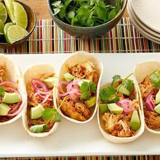 Slow-Cooker Creamy Chicken and Green Chile Tacos.