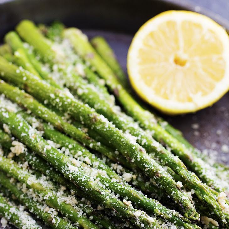 Roasted Lemon Parmesan Garlic Asparagus Recipe