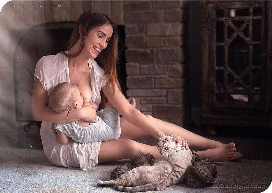 Ivette Ivens và bộ ảnh Tôi đã nuôi con bằng sữa mẹ - Tạp Chí Designer Việt Nam