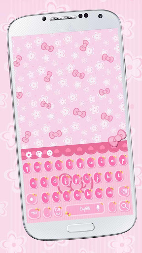 Hello pink cute kitty keyboard for PC